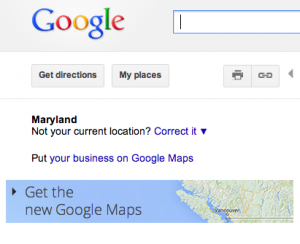 What I get when I go to Google Maps.